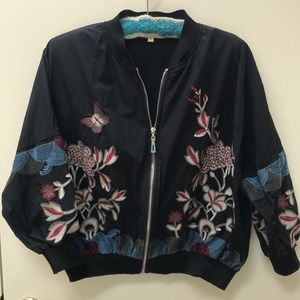 Fun embroidered bomber jacket